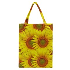 Sunflowers Background Wallpaper Pattern Classic Tote Bag
