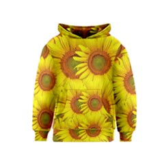 Sunflowers Background Wallpaper Pattern Kids  Pullover Hoodie