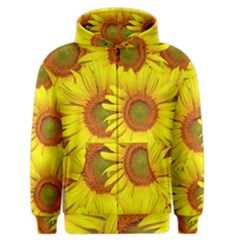 Sunflowers Background Wallpaper Pattern Men s Zipper Hoodie