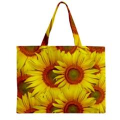 Sunflowers Background Wallpaper Pattern Zipper Mini Tote Bag