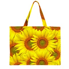 Sunflowers Background Wallpaper Pattern Large Tote Bag