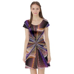 Background Image With Wheel Of Fortune Short Sleeve Skater Dress