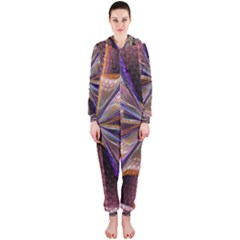 Background Image With Wheel Of Fortune Hooded Jumpsuit (Ladies)