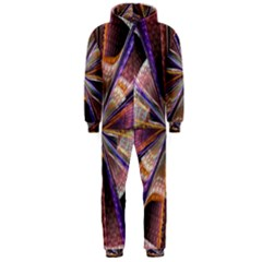 Background Image With Wheel Of Fortune Hooded Jumpsuit (men)
