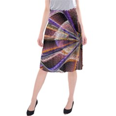 Background Image With Wheel Of Fortune Midi Beach Skirt