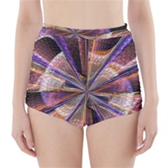 Background Image With Wheel Of Fortune High-Waisted Bikini Bottoms