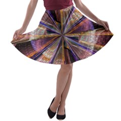 Background Image With Wheel Of Fortune A-line Skater Skirt