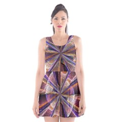 Background Image With Wheel Of Fortune Scoop Neck Skater Dress