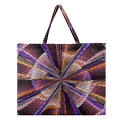 Background Image With Wheel Of Fortune Zipper Large Tote Bag