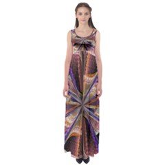 Background Image With Wheel Of Fortune Empire Waist Maxi Dress