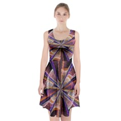 Background Image With Wheel Of Fortune Racerback Midi Dress