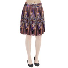 Background Image With Wheel Of Fortune Pleated Skirt