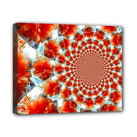 Stylish Background With Flowers Canvas 10  x 8