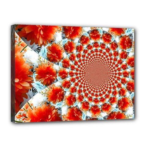 Stylish Background With Flowers Canvas 16  x 12