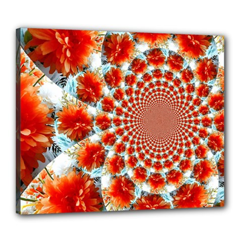 Stylish Background With Flowers Canvas 24  X 20