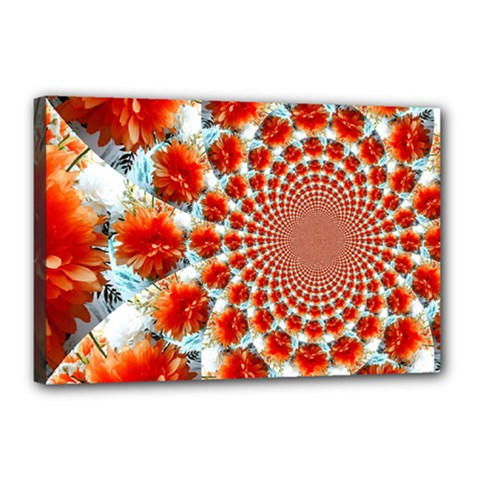 Stylish Background With Flowers Canvas 18  x 12