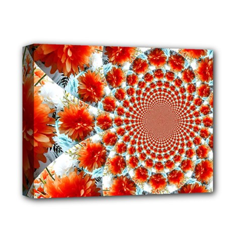 Stylish Background With Flowers Deluxe Canvas 14  x 11
