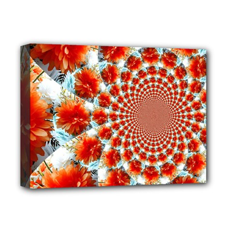 Stylish Background With Flowers Deluxe Canvas 16  x 12