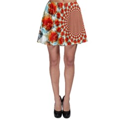 Stylish Background With Flowers Skater Skirt