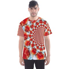 Stylish Background With Flowers Men s Sport Mesh Tee