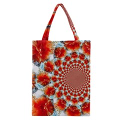 Stylish Background With Flowers Classic Tote Bag