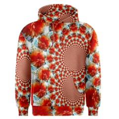 Stylish Background With Flowers Men s Pullover Hoodie
