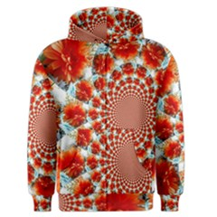 Stylish Background With Flowers Men s Zipper Hoodie