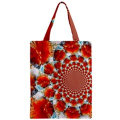 Stylish Background With Flowers Zipper Classic Tote Bag