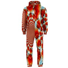 Stylish Background With Flowers Hooded Jumpsuit (men)