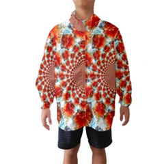 Stylish Background With Flowers Wind Breaker (kids)