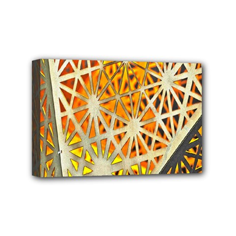 Abstract Starburst Background Wallpaper Of Metal Starburst Decoration With Orange And Yellow Back Mini Canvas 6  x 4