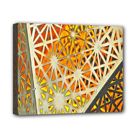 Abstract Starburst Background Wallpaper Of Metal Starburst Decoration With Orange And Yellow Back Canvas 10  x 8