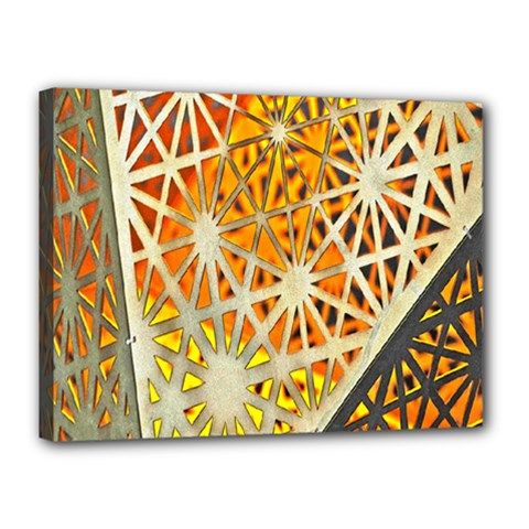 Abstract Starburst Background Wallpaper Of Metal Starburst Decoration With Orange And Yellow Back Canvas 16  x 12