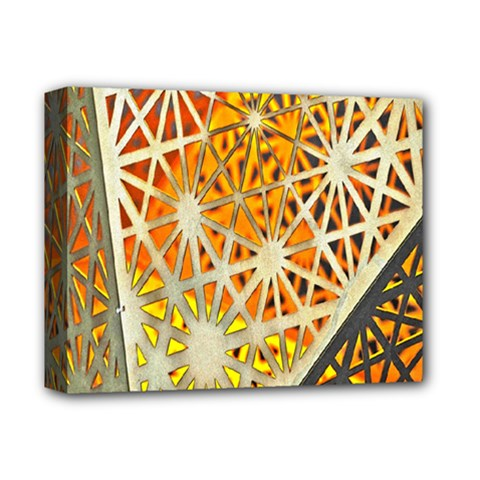 Abstract Starburst Background Wallpaper Of Metal Starburst Decoration With Orange And Yellow Back Deluxe Canvas 14  x 11