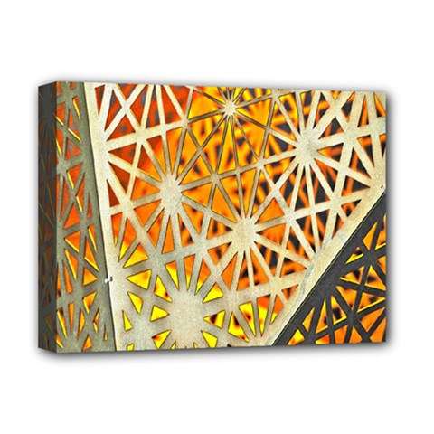 Abstract Starburst Background Wallpaper Of Metal Starburst Decoration With Orange And Yellow Back Deluxe Canvas 16  X 12