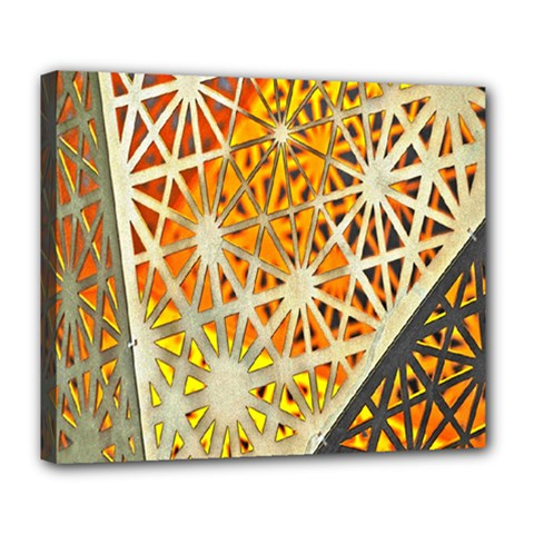 Abstract Starburst Background Wallpaper Of Metal Starburst Decoration With Orange And Yellow Back Deluxe Canvas 24  x 20