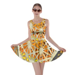 Abstract Starburst Background Wallpaper Of Metal Starburst Decoration With Orange And Yellow Back Skater Dress