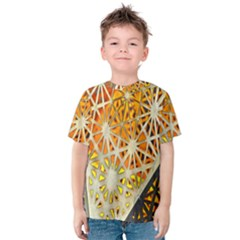 Abstract Starburst Background Wallpaper Of Metal Starburst Decoration With Orange And Yellow Back Kids  Cotton Tee
