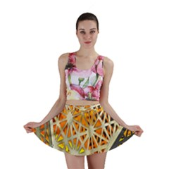 Abstract Starburst Background Wallpaper Of Metal Starburst Decoration With Orange And Yellow Back Mini Skirt