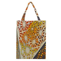 Abstract Starburst Background Wallpaper Of Metal Starburst Decoration With Orange And Yellow Back Classic Tote Bag