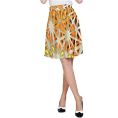 Abstract Starburst Background Wallpaper Of Metal Starburst Decoration With Orange And Yellow Back A-Line Skirt