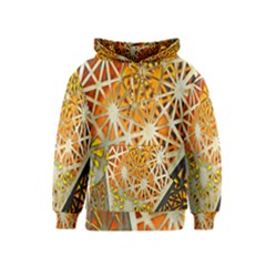 Abstract Starburst Background Wallpaper Of Metal Starburst Decoration With Orange And Yellow Back Kids  Pullover Hoodie
