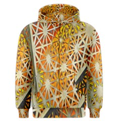 Abstract Starburst Background Wallpaper Of Metal Starburst Decoration With Orange And Yellow Back Men s Zipper Hoodie