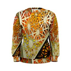 Abstract Starburst Background Wallpaper Of Metal Starburst Decoration With Orange And Yellow Back Women s Sweatshirt