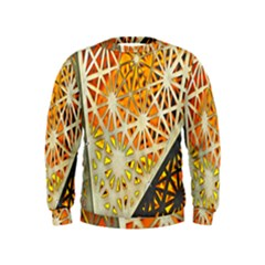 Abstract Starburst Background Wallpaper Of Metal Starburst Decoration With Orange And Yellow Back Kids  Sweatshirt