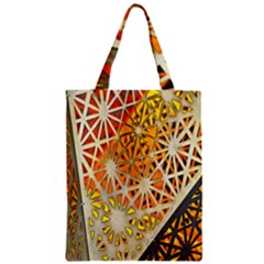 Abstract Starburst Background Wallpaper Of Metal Starburst Decoration With Orange And Yellow Back Zipper Classic Tote Bag