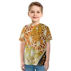 Abstract Starburst Background Wallpaper Of Metal Starburst Decoration With Orange And Yellow Back Kids  Sport Mesh Tee