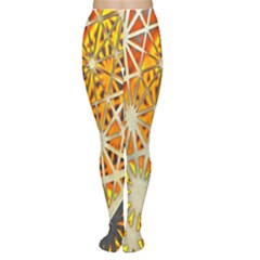 Abstract Starburst Background Wallpaper Of Metal Starburst Decoration With Orange And Yellow Back Women s Tights