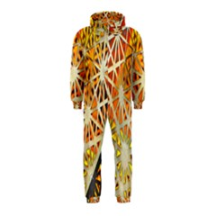 Abstract Starburst Background Wallpaper Of Metal Starburst Decoration With Orange And Yellow Back Hooded Jumpsuit (kids)