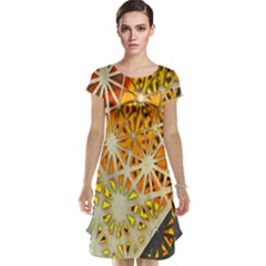 Abstract Starburst Background Wallpaper Of Metal Starburst Decoration With Orange And Yellow Back Cap Sleeve Nightdress